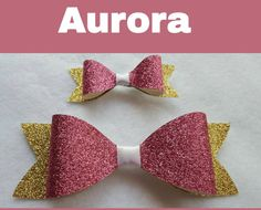Check out this item in my Etsy shop https://www.etsy.com/listing/246267058/disney-inspired-aurora-hair-bows-glitter