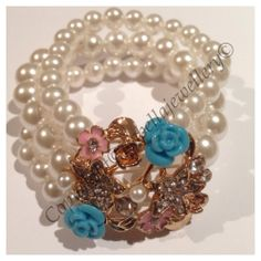 I'm selling Multi strand pearl stretch bracelet (Mothers Day Special) - A$36.90 #onselz