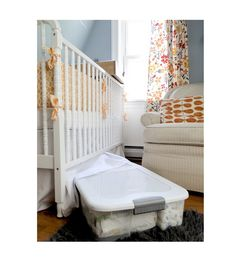 Nursery Organization Tips. Another Reason Why A Crib Skirt Is Necessary.  Opens Up Storage Space!