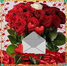 Flowers Gif, Beautiful Rose Flowers, Pretty Roses, Love Flowers, Pretty And Cute, Love Is Sweet, Cute Baby Couple, Evening Greetings, Gifs