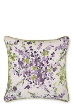 Buy Cotton Watercolour Floral Embellished Cushion from the Next UK online shop