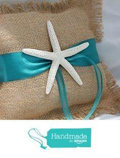 Burlap Starfish Ring Pillow from Beach Wedding Store https://www.amazon.com/dp/B071KT2SGP/ref=hnd_sw_r_pi_dp_0n6.yb5N9J345 #handmadeatamazon