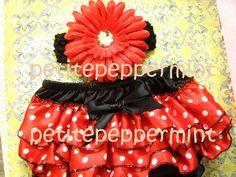 Miss Ladybug Baby Bloomer and Headband Set. $9.99, via Etsy.
