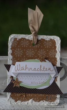 cute gift tags by using the Tree Tag A Bag Accesorry Kit - Kerstin Kreis