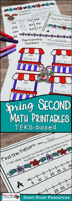 Second Grade Math Printables   Second Grade Fall Math Printables ...