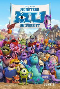 Monsters University Movie Poster | Sevimli Canavarlar Üniversitesi Film Posteri