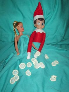 15 Inappropriate Elf on the Shelf Pics-Legend has it that the Elf on the Shelf is a secret agent for Santa, sent directly from the North Pole to report on who's been naughty and who's been nice. However, we've uncovered the Elf on the Shelf getting downright dirty in these 15 inappropriate Elf-on-the-Shelf Photos.
