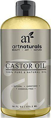 Art Naturals 100% Pure Castor Oil 16 oz - Best Massage Oil & Moisturizer for Hai