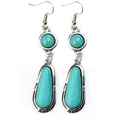 Amazon.com: Ginasy Silver Plated Square Turquoise Earrings: Jewelry