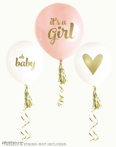 Perfect balloons for a baby girl shower or to decorate the nursery!