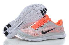 Nike Free 3.0 V5 Dames beste verkoop Grijs Wit Oranje