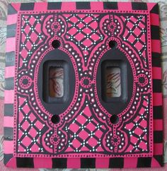 """Switch Plate Original One of a Kind  Hand Painted Art Light Switch Cover  """"OOH LA LA"""". $35.00, via Etsy."""