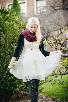 I ♥ this look on ModCloth's Style Gallery! Fashion Gallery, School Fashion, Black Cardigan, Modcloth, That Look, Tulle, White Dress, Ballet Skirt, Skirts