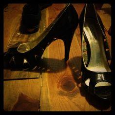 Steve Madden heels Worn once, but I don't do high heels Steve Madden Shoes Heels