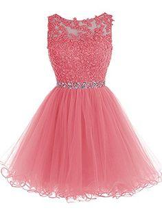 Tideclothes Short Beaded Prom Dress Tulle Applique Evenin... https://www.amazon.com/dp/B018WWLM5Y/ref=cm_sw_r_pi_dp_x_gelwyb3PS7HNA