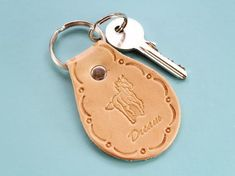 Click To Shop Now – Handmade Leather Keyring, Leather Keychain, Why not check out my Etsy shop? #horse #dream #inspirational #keyring #leather #keychain #animal #handstamped #birthdaygift #christmasgift Leather Bookmark, Leather Keyring, Leather Gifts, Leather Tooling, Leather Craft, Handmade Leather, Tooled Leather, Horse Gifts, Gifts For Horse Lovers