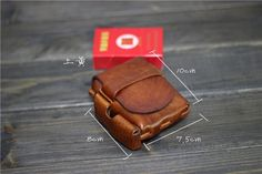 Pure Handmade Cowhide Leather High Quality Tobacco Light Pouch Wallet   eBay