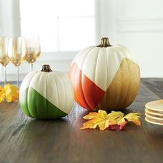 DIY Color Block Craft Pumpkins for fall decor