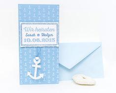 Marine Set - Einladungskarte zur Hochzeit von Vintage Wedding Papeterie auf DaWanda.com