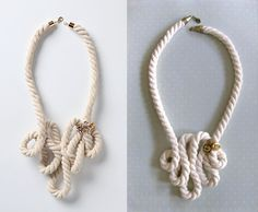 Anthro Style Rope Necklace - I have all the stuff, I just need to put it together.