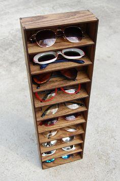Storage Shelving Organizer Shelf Wall Mounted Sunglasses Glasses 3D Storage Shelf Case Holder Rack. $42.00, via Etsy.