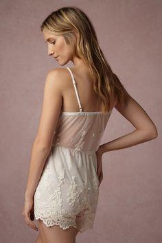 BHLDN Translucid Lace Romper in Bride Bridal Lingerie at BHLDN White Lace  Romper b653e9b3e