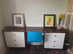 Rastastic desk - IKEA Hackers. Desk in middle (20d x 31h x 37w). Rast 24 3/8w x 27 1/2h x 11 3/4d