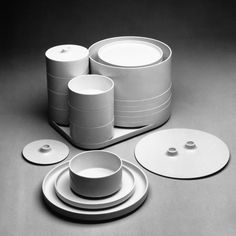Compact Stacking Dinnerware, a 1960s design that was (and is) produced by Heller, is one of the Vignelli office's best-known products.