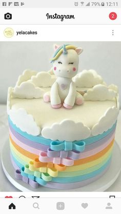 My Little Pony's Rainbow Dash cake