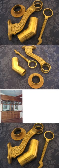 Antiques: Assorted Brass Foot Rail Parts Reduced Price -> BUY IT NOW ONLY: $30 on eBay!