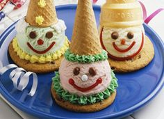 Cookie and Cone Clowns- these are cute and not creepy. @som