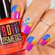 Good morning IG peeps. Neons neons every where. Products: Shh...My Nails Are Glowing In The Dark It Was All A Dream Neons Still Exist Woohoo My Hangover Remedy Is Neon Flashing Neon Lights @boiicosmetics Hehe 003 stamping plate Used He Sticks To Me Like Glue @boiicosmetics stamping polish and Fingers Crossed @colorclubnaillacquer Top With Love top coat @shoploveangeline And my new jumbo stamper @cosette.nail.shop which is my absolute favorite stamper at the moment #nailcharm…
