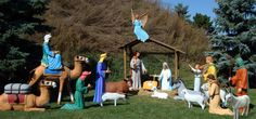 Commercial Life Size Nativity Scenes   All American Christmas Co.
