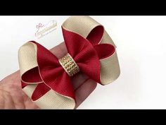 Laço Formoso fita n5 - YouTube Ribbon Hair Bows, Diy Hair Bows, Diy Bow, Hair Bow Tutorial, Making Hair Bows, Diy Headband, Diy Hair Accessories, Ribbon Crafts, Girls Bows