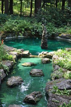 27 idéés pour le bassin de jardin préformé , hors sol + - bassin-exterieur-cnostruire-pierre