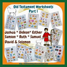 Bible Fun For Kids: Old Testament Bible People Worksheets Part 1