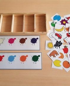 Materiales_TEACCH_Clasificacion_colores_pictogramas_ARASAAC_3 Preschool Color Activities, Life Skills Activities, Name Activities, Toddler Learning Activities, Preschool Activities, Kids And Parenting, Toy Chest, Art For Kids, Autism Spectrum