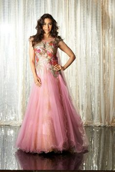 Karishma modeling a gorgeous light pink evening gown #Bollywood #IndianBride #Fashion #Pink
