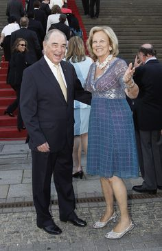 Princess Marie Luise of Prussia and her husband  Rudolf von Schoenburg-Glauchau arrive for a charity concert at the Gendarmenmarkt concert hall on August 26, 2011 in Berlin, Germany. The religious wedding of Georg Friedrich Ferdinand Prince of Prussia to Princess Sophie of Prussia will take place at the Friedenskirche Potsdam at Sanssouci Park on August 27.