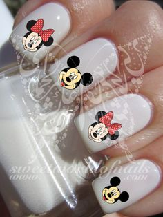 Mickey Minnie Mouse Nail Art Nail Water Decals