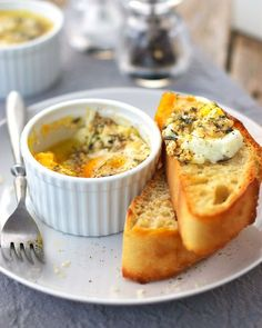 baked eggs with parmesan cheese: easy, delicious and ready in under 10 minutes! Serve with grilled tomatoes or ham slices. If you like the cheese slightly gooey, put that in the ramkin before you break in the 2 eggs.