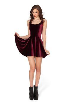 Velvet Mulled Wine Evil Skater Dress