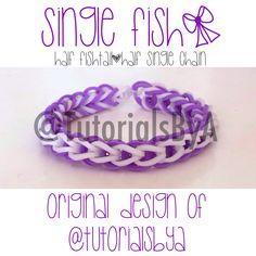Original TutorialsByA Rainbow Loom Bracelet: Single Fish | Half single chain, half fishtail