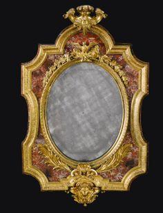 Italian gilt-bronze and Sicilian jasper mounted frame, Roman or Neapolitan, first half 18th century