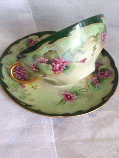 Antique Limoges W.G. Company Teacup & Saucer by GrammiesCedarChest,