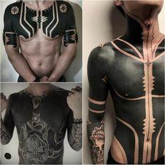 blackwork tattoo cover up - blackwork tattoo - blackwork tattoo style Geometric Tattoo Cover Up, Black Tattoo Cover Up, Solid Black Tattoo, Black Cover, Cover Tattoo, Back Tattoos, Hot Tattoos, Future Tattoos, Body Art Tattoos