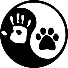 Ying and YANG DOG or CAT Paw
