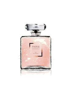 Poster met parfumfles, Chanel