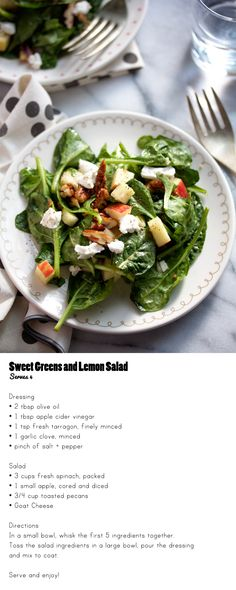 Sweet Greens and Lemon Salad #Recipe