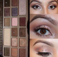 Perfect natural eye make-up Makeup Over 50, Makeup 101, Makeup Dupes, Makeup Goals, Makeup Inspo, Eyeshadow Makeup, Beauty Makeup, Chocolate Bar Makeup, Chocolate Bar Palette Looks